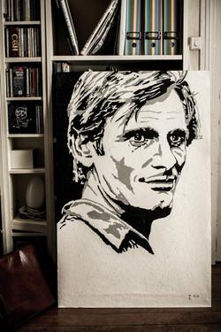 Portrait de Viggo Mortensen (huile)