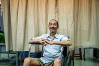 Un patient, dans une maison d'accueil chapeautée par Caritas