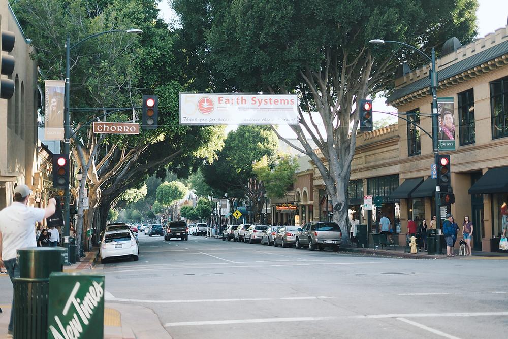 Higuera Street in San Luis Opisbo