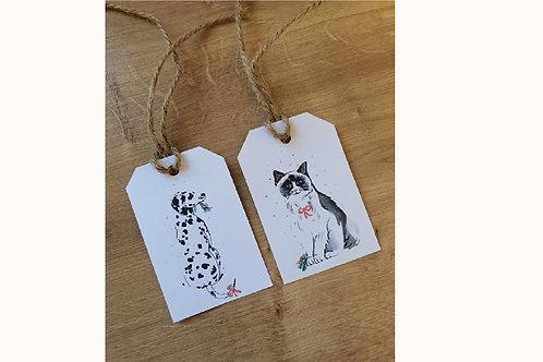 Vánoční visačky pes / kočka