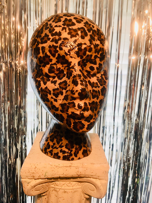 Leopard Print, Mannequin Head Display Lightweight and Portable Glam