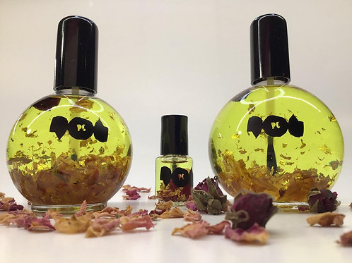 Royal Peach Cuticle Oil infused w/ Roses and 24kt gold flakes