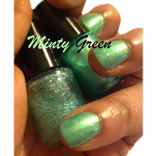 Minty Green Wrappers Nail Laquer Duo