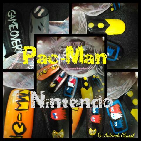 Pac-Man Nail Art