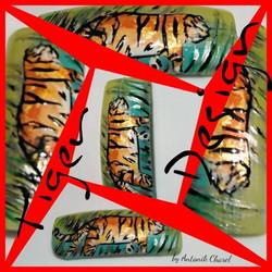Tiger Design Nail Art
