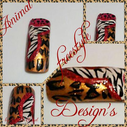 Leopard and Zebra Nail Art