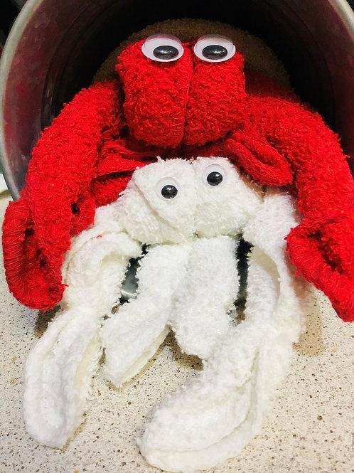Bath Time! Spa Crabs, Origami Washcloths Gift Set