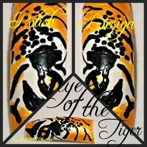 Eye of the Tiger Nail Art