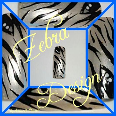 Zebra Design Nail Art