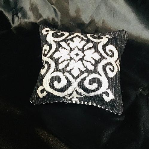 PILLOW TALK, handmade Floral Design W/ Pinstripes Pincushion Pillows