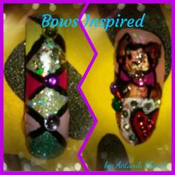 Bow Design Nail Art
