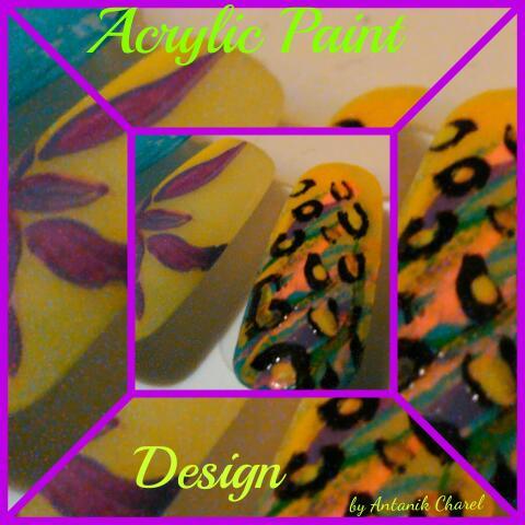 Acrylic Paint Nail Art