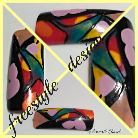 Colorful Abstract Nail Art