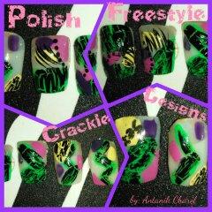 Crackle Nail Art