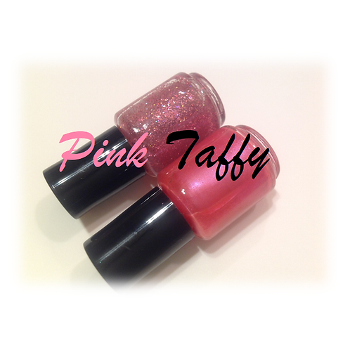 Pink Taffy Wrappers Nail Laquer Duo
