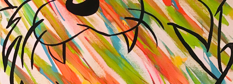 Taz Colorful Abstract Acrylic Painting