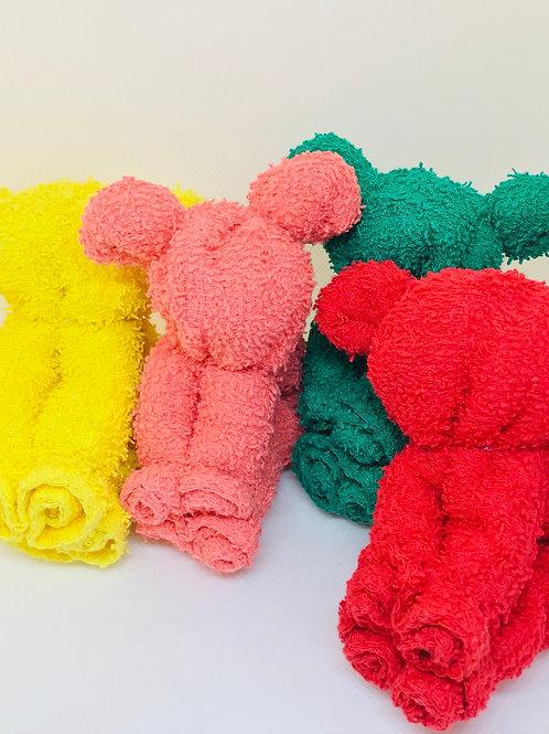 Bath Time! Gummy Bears Inspired Origami Washcloth Set