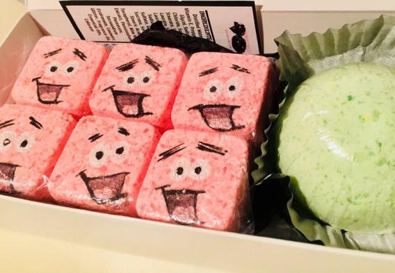 """Sweet Toons"" Giveaways, Patrick Inspired, Ice Cream Crave Bath Bomb Set"