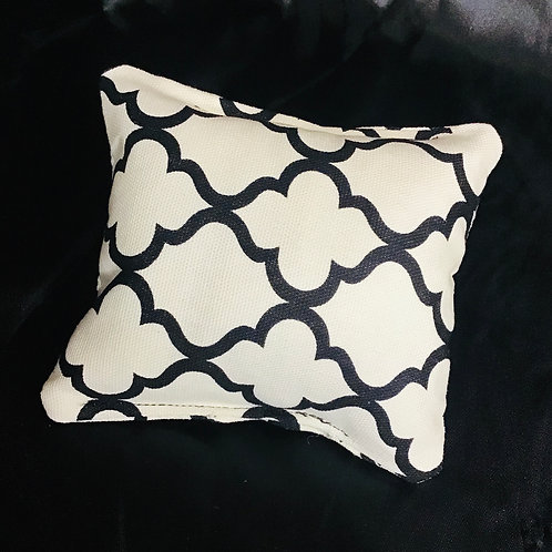 PILLOW TALK, handmade Black and White Geometric Design Pincushion Pillows