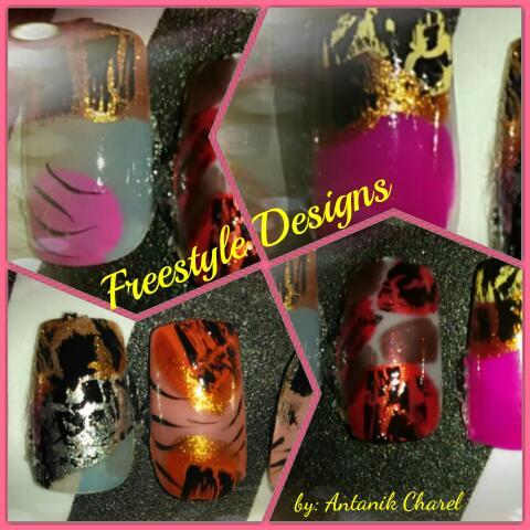 Crackle Nail Polish Designs