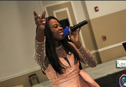 """Singing """"Great Elohim"""" in front of a crowd of donors at the IYA Foundation Fundraiser, Maryland"""