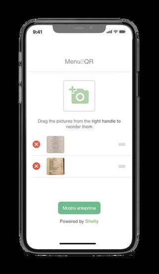 Carica le tue immagini direttamente dal tuo smartphone, puoi anche utilizzare direttamente la fotocamera. Ti consigliamo di fare fotografie con una buona definizione e ben centrate.