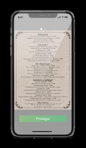 Verifica l'anteprima del tuo menu prima di procedere e se non sei soddisfatto, modifica le immagini o l'ordine in cui vengono visualizzate.