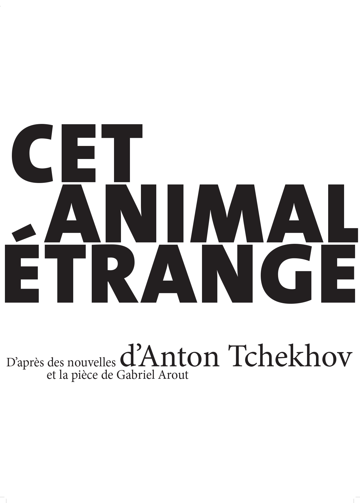 Affiche Cet etrange animal