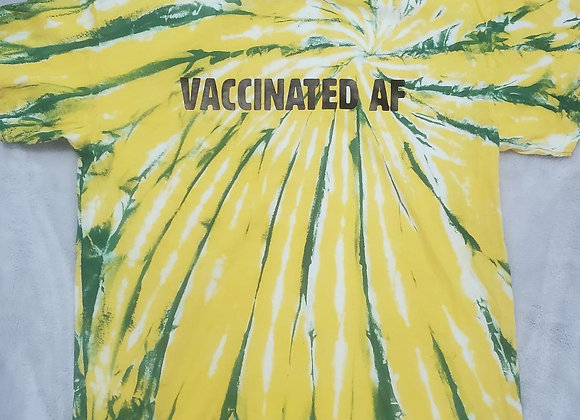 """""""VACCINATED AF"""" tee (large)"""
