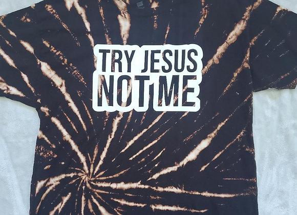 """Try Jesus"" blk reverse tee (2XL)"