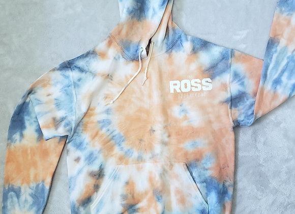 Coral/Blue space hoodie (Med)