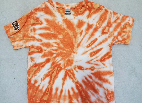 Youth orange/white tee (XS)