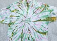 Pink/green/gold swirl (3XL)