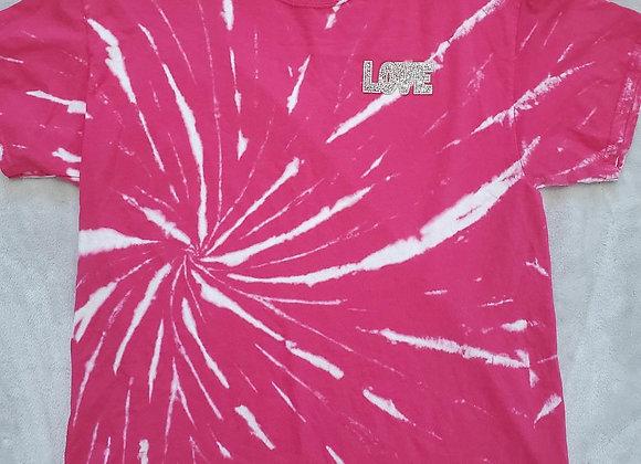 "Pink ""LOVE"" tee (XL)"