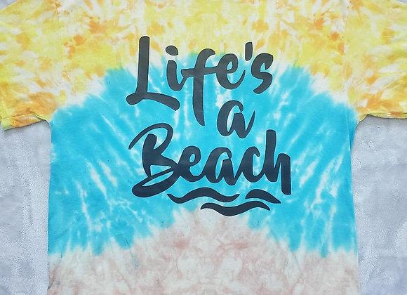 """""""Life's a Beach"""" tee (XL)"""