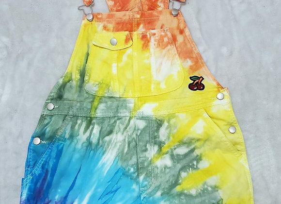 Rainbow overalls (womens large 11-13)