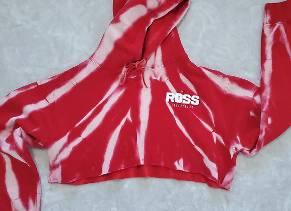 Red zebra crop top hoodie (2XL)