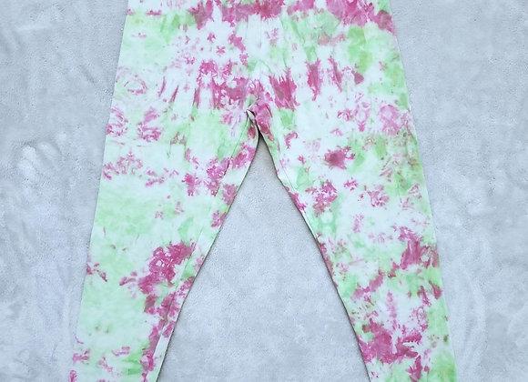 Custom pink/slime leggings (2XL)