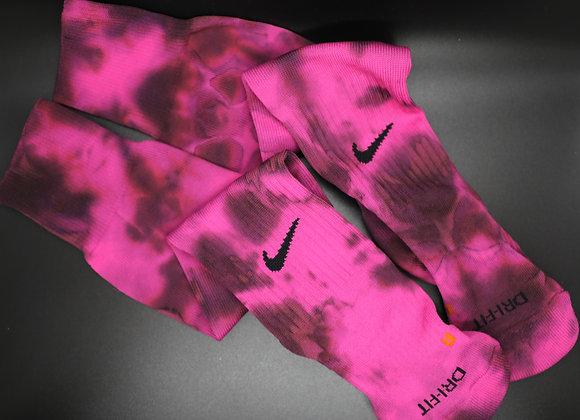 Reverse Pink knee high