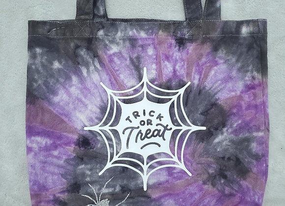 Trick or Treat spider tote bag