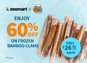 Enjoy 60% OFF on Frozen Bamboo Clams
