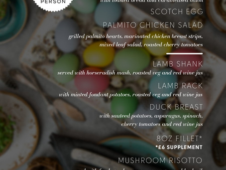 easter special menu