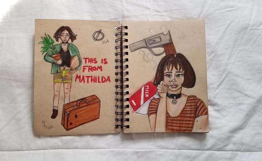 Matilda Sketchbook spread