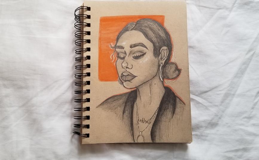 Debbie Ryan sketchbook page