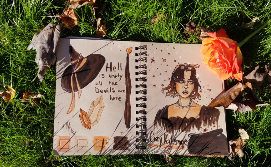 Witches sketchbook spread