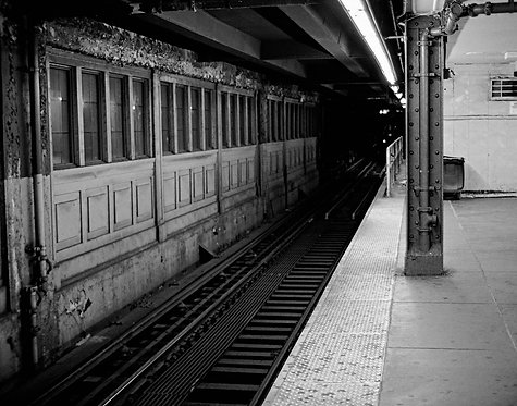 Subway Platform, B&W  (8x10)