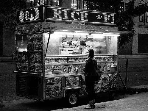 Street Cart Woman  (8x10)