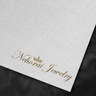 עיצוב לוגו לחנות תכשיטים,אלגנטי נקי בצבע זהב