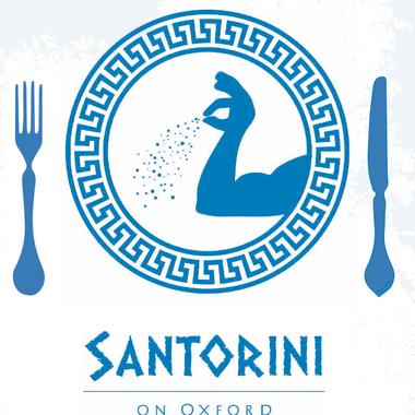 Santorini on Oxford logo