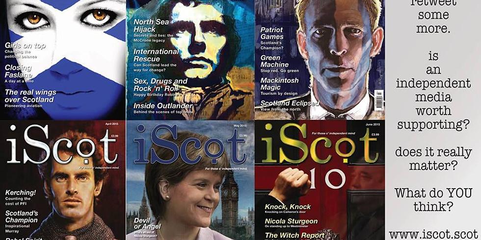 Aye Fyne! Group meeting with Ken McDonald of iScot magazine